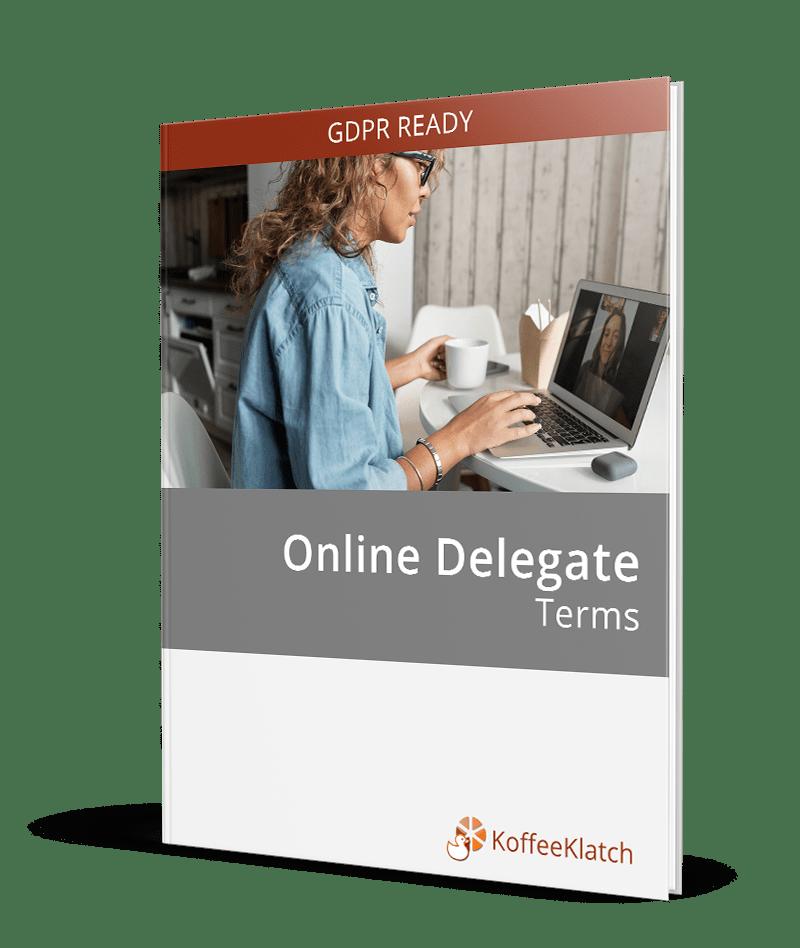 Online Delegate terms