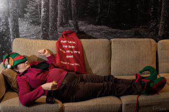 Elf on a sofa