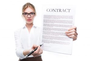 online course contract